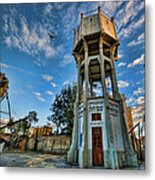 The Old Water Tower Of Tel Aviv Metal Print by Ron Shoshani