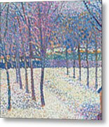The Orchard Under The Snow  Metal Print by Hippolyte Petitjean