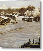 The Oxford And Cambridge Boat Race Metal Print by James Macbeth
