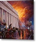 The Pantechnicon Fire. 1874. Metal Print by Mike  Jeffries