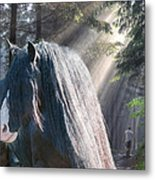 The Parting Of Two Earthly Souls Metal Print by Terry Kirkland Cook
