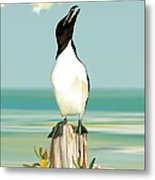The Penguin Has Landed Metal Print by Anne Beverley-Stamps