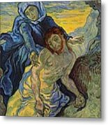 The Pieta After Delacroix 1889 Metal Print by Vincent Van Gogh