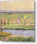 The Plain Of Gennevilliers From The Hills Of Argenteuil Metal Print by Gustave Caillebotte