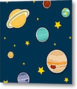 The Planets  Metal Print by Christy Beckwith