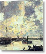 The Port Metal Print by Eugene Louis Boudin