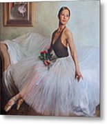 The Prima Ballerina Metal Print by Anna Rose Bain
