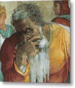 The Prophet Jeremiah Metal Print by Michelangelo
