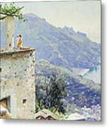 The Ravello Coastline Metal Print by Peder Monsted