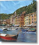 The Red Boat Metal Print by Emily Olson