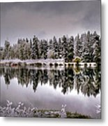The Red Canoe Metal Print by Donna Kennedy