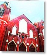 The Red Church By Sharon Cummings Metal Print by Sharon Cummings