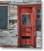 The Red Door Metal Print by Eric Gendron