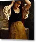 The Red Ribbon Metal Print by William Adolphe Bouguereau