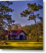 The Red Roof Barn Metal Print by Marvin Spates