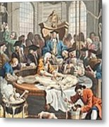 The Reward Of Cruelty, From The Four Metal Print by William Hogarth