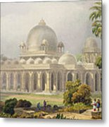 The Roza At Mehmoodabad In Guzerat, Or Metal Print by Captain Robert M. Grindlay