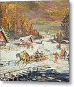 The Russian Winter Metal Print by Konstantin Korovin
