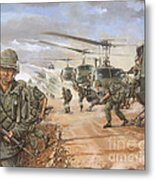 The Screaming Eagles In Vietnam Metal Print by Bob  George