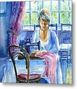 The Seamstress Metal Print by Trudi Doyle