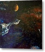 The Search For Earth Metal Print by Murphy Elliott