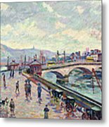 The Seine At Rouen Metal Print by Jean Baptiste Armand Guillaumin