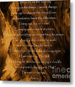 The Serenity Prayer Metal Print by Andrea Anderegg