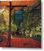 The Sign Of Fall Colors Metal Print by Jeff Folger