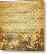 The Signing Of The United States Declaration Of Independence Metal Print by Wingsdomain Art and Photography
