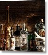 The Snake Oil Shop Metal Print by Olivier Le Queinec