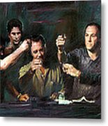 The Sopranos Metal Print by Viola El