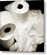 The Spare Rolls 2 - Toilet Paper - Bathroom Design - Restroom - Powder Room Metal Print by Andee Design