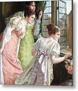 The Squire S Arrival Metal Print by Mary E Harding