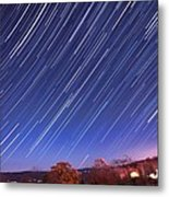 The Star Trail In Ithaca Metal Print by Paul Ge