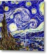 The Starry Night Reimagined Metal Print by Adam Romanowicz