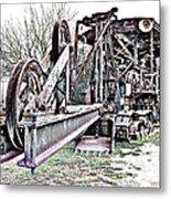 The Steam Shovel Metal Print by Glenn McCarthy Art and Photography