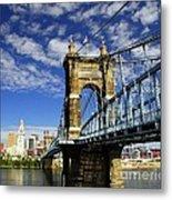 The Suspension Bridge Metal Print by Mel Steinhauer