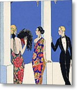 The Taste Of Shawls Metal Print by Georges Barbier