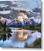 The Tetons From Oxbow Bend Metal Print by Dan Sproul