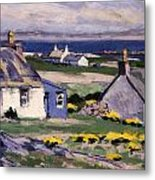 The Two Crofts Metal Print by Francis Campbell Boileau Cadell