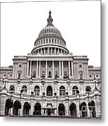 The United States Capitol  Metal Print by Olivier Le Queinec