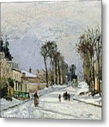 The Versailles Road At Louveciennes Metal Print by Camille Pissarro