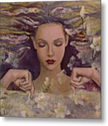 The Voice Of The Thoughts Metal Print by Dorina  Costras