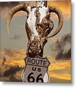 The Warmth Of Route 66 Metal Print by Mike McGlothlen