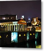 The Waterworks At Night Metal Print by Bill Cannon