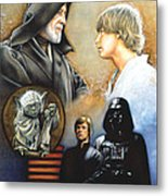 The Way Of The Force Metal Print by Edward Draganski