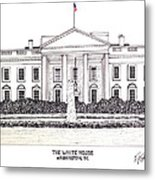 The White House Metal Print by Frederic Kohli