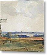 The Windmill Metal Print by Peter de Wint