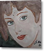 The Woman From The Market... Metal Print by Fladelita Messerli-