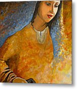 The Wonderment Of Mary - Virgin Mary Madonna Mother Of Jesus Christ Child Metal Print by Carla Holiday